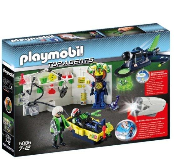 [Amazon Prime] Playmobil 5086 - Agentenlabor mit Flieger (Taschenlampe, Metalldetektor, Led...) PVG: 14,23 €+VSK