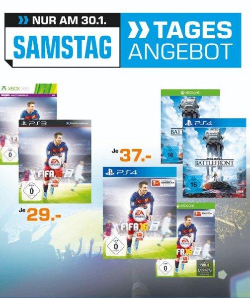 [Lokal Saturn Dortmund/Witten) Tagesangebot 30.01...Star Wars Battlefront und Fifa 16 (XBO und PS4) für je 37,-€.. Fifa 16 XB360 und PS3 für je 29,-€