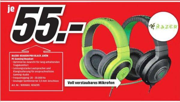 [Lokal Mediamarkt Magdeburg] Razer Kraken Pro Gaming-Headset / Kabelgebunden / Geschlossenes Kopfhörerdesign / Verstaubares Mikrofon in Grün oder Schwarz für je 55,-€