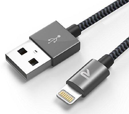 [Amazon Prime oder Buchtrick] Rampow 2m Nylon Lightning zu USB Kabel [Apple MFi zertfiziert] 20% Rabatt (Lebenslange Garantie!)