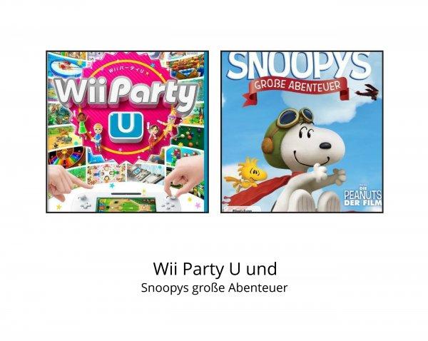 Zwei Spiele für die Wii U (Wii Party U und Snoopys große Abenteuer)