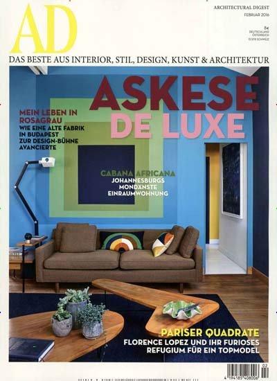 """Jahresabo (10 Ausgaben) """"AD Architectural Digest"""" für effektiv 3,00€ (durch 65,00€ Amazon-Gutschein)"""