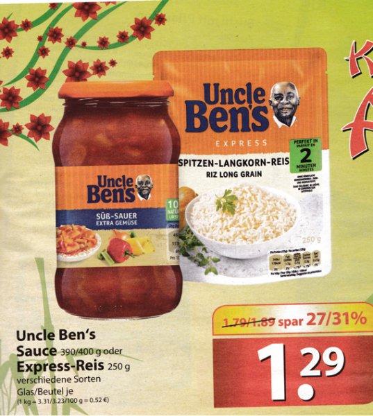 ( Famila Nord + Marktkauf Nord KW05 ) Uncle Bens Express Reis und Soßen