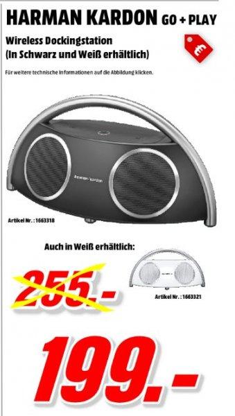 [Mediamarkt Porta Bundesweit] Harman Kardon Go + Play Wireless Aktivlautsprecher (Bluetooth, Line-In) in Schwarz oder Weiß für je 199,-€ Versandkostenfrei