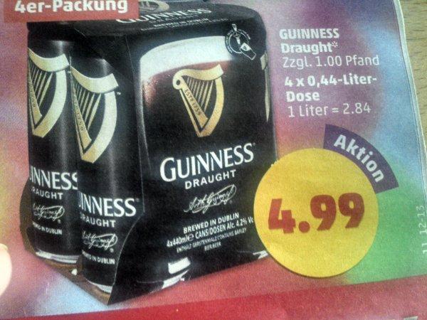 Guinness Draught 4,2%, 4x440 ml Dosen Guinness nur 4,99€ Ab Mo Penny (bundesweit?)