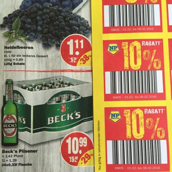 Lokal?! Kiste Becks 34x0,33L f. 9,89 €