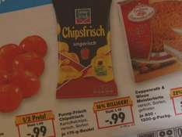 """(Kaufland) Kartoffelchips ab 04.02.-06.02.16 von  funny-frisch """"Chipsfrisch"""" für 0.99€ je 175g"""