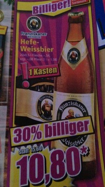 Franziskaner Hefe-Weißbier bei Norma