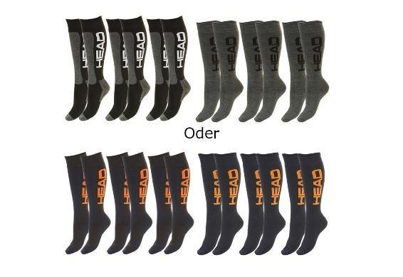 [3% Qipu]  6 Paar HEAD Skisocken in blau und schwarz/grau (Größen 35 - 46) für 24,95€ frei Haus @Dealclub