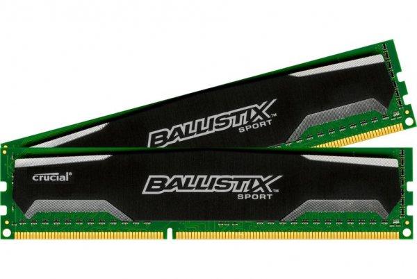 [amazon.co.uk] 16GB (2x 8GB) Crucial Ballistix Sport DDR3-RAM 1600 MHz PC3-12800 CL9 Kit