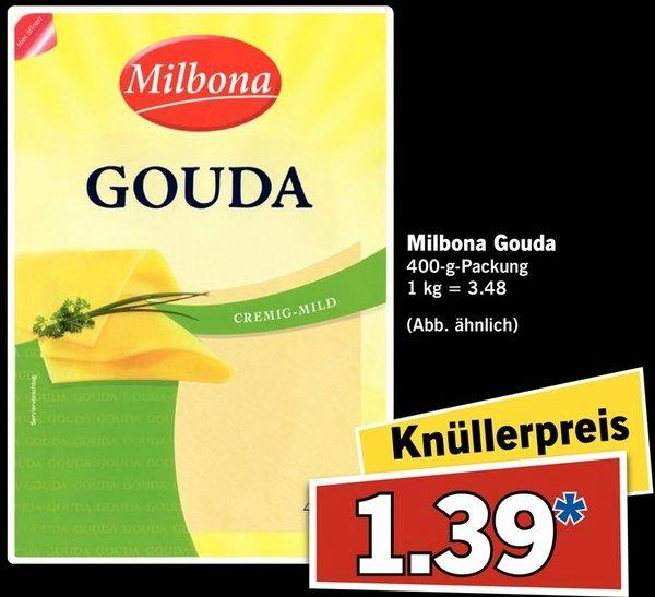 [LIDL Supersamstag am 6.2] Milbona Gouda 400g für 1,39 (1kg=3,48)