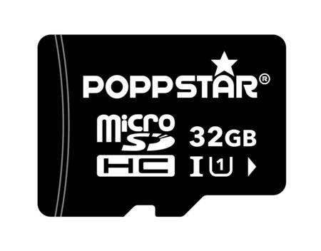 Poppstar Micro SDHC inkl. SDAdapter Class 10 UHS-1, Speicherkarte, 32 GB, Schwarz für 8,50€ @Allyouneed