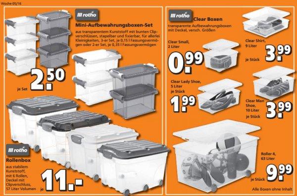 Rotho Boxen aktuell im Angebot @Globus Baumarkt