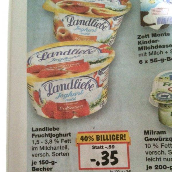 [Kaufland+Scondoo] 6x Landliebe Fruchtjoghurt 150g