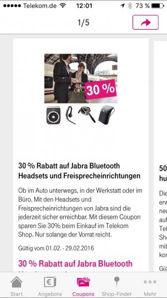 30% auf Jabra Bluetooth Headsets und Freisprecheinrichtungen
