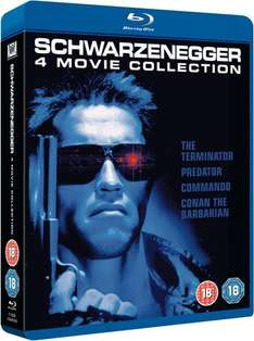 Arnold Schwarzenegger 4 Movie Collection [Blu-ray] für 9,14 € bei zavvi.de