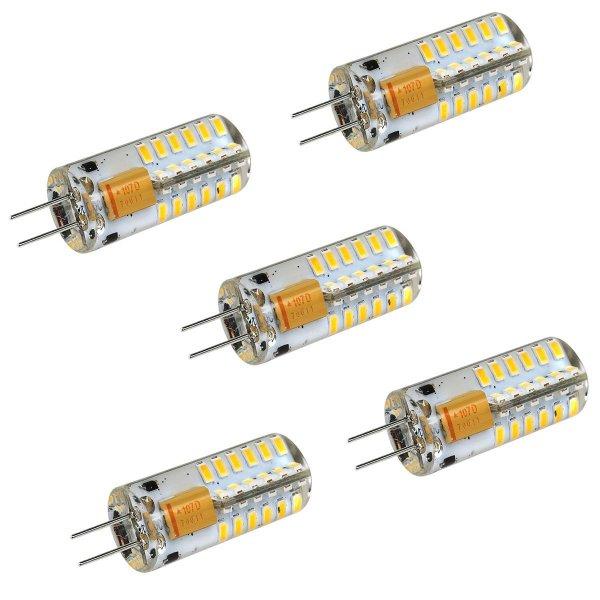 - 60% [AMAZON] 5 Stk. LEORX G4 LED AC -Warmweiß- Stiftsockel Leuchten statt 12.99€ nur 4.99€