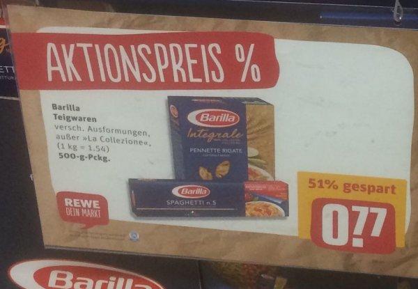 Barilla Pasta versch. Sorten für 77 Cent (Rewe & Edeka) / 66 Cent im Globus