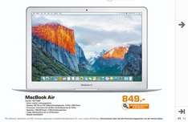 [lokal Saturn Karlsruhe] Apple MacBook Air MJVE2D/A i5, 4GB, 128GB für nur 849€