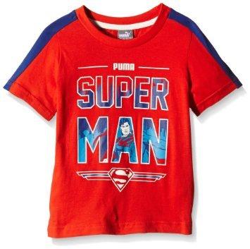 PUMA Jungen T-Shirt Fun Superman / Größe 110 in Rot für 5,22 Euro bei AmazonPrime / weitere Größen etwas teurer ebenfalls vorhanden