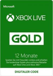 XBOX Live Gold 12 Monate bei Gameladen.com