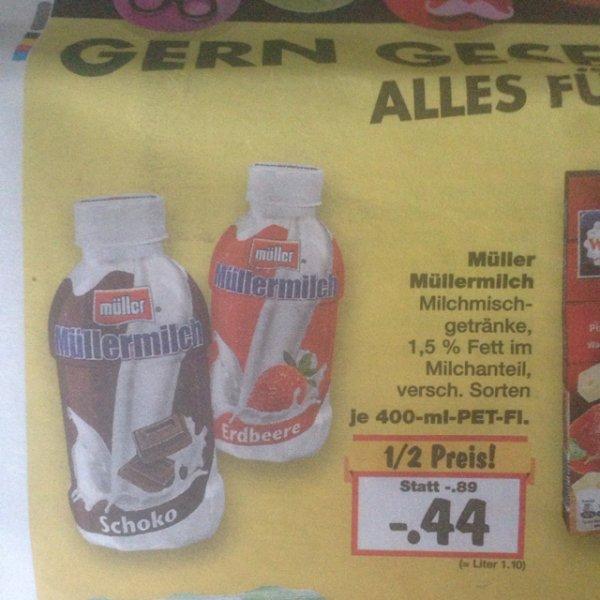 [Kaufland] Müllermilch 44 Cent !