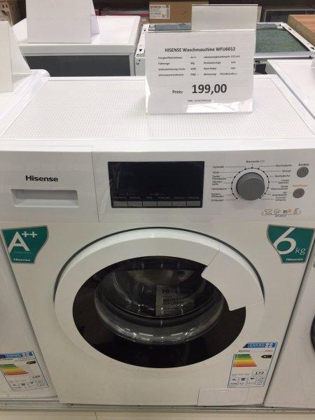 [V-MARKT Illertissen lokal?] HISENSE Waschmaschine Slim WFU6012 6kg A++ 1200U/min