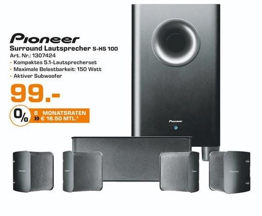 [Saturn HH + Norderstedt] Pioneer S-HS100 5.1 Lautsprechersystem (150 Watt Maximale Belastbarkeit)