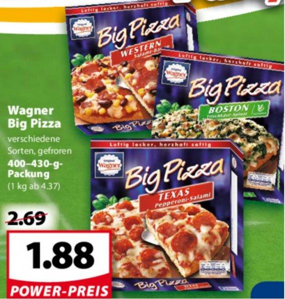(Famila NordWest/Rewe) Wagner Big Pizza für 1,88 €