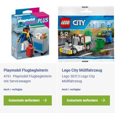 [Lokal Frankfurt Airport] Playmobil Flugbegleiterin und Lego City Müllwagen geschenkt bei Registrierung für Frankfurt Airport Rewards Programm bis 29.02.2016