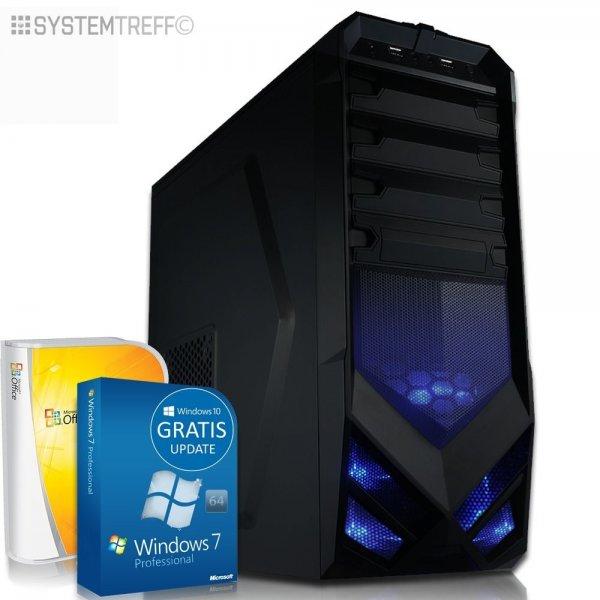 ACHTUNG! Komplett Set PC System mit TFT 1 TB 128 GB SSD 16 GB R9 380 4GB ~329,90