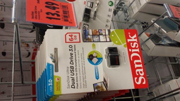 Sandisk 64GB Dual USB Drive 3.0 für microUSB Andoid, Kaufland Bochum Wattenscheid