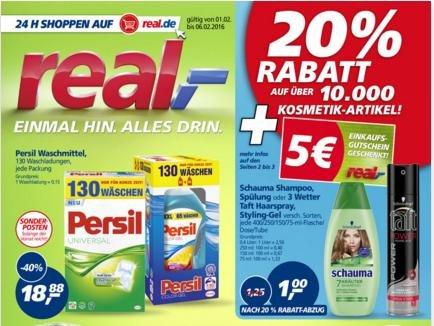 Offline REAL: Persil und Drogerie-Artikel zu echt guten Preisen (5€ Gutschein ab 30€ + Payback-Punkte)