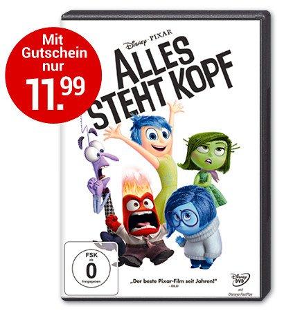 "[Weltbild] DVD/Blue Ray/3D ""Alles steht Kopf"" ab 11,99€"