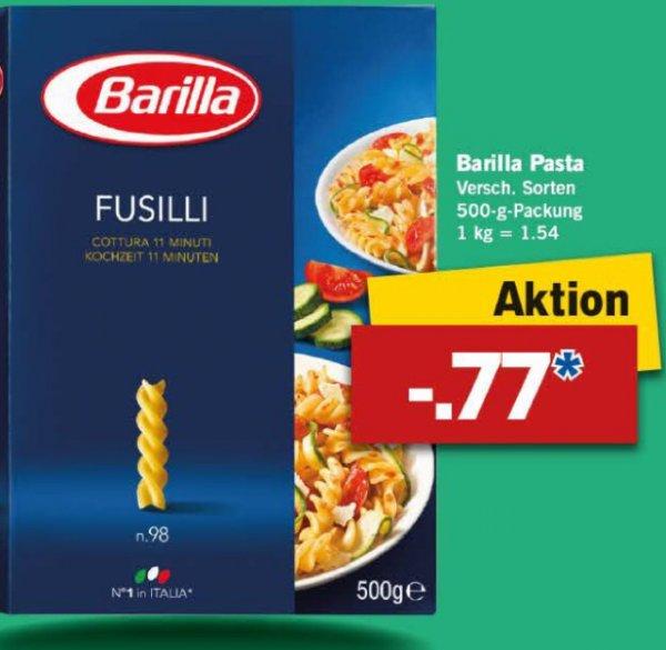 [LIDL] Barilla Pasta 500g versch. Sorten ab Do. 11.2