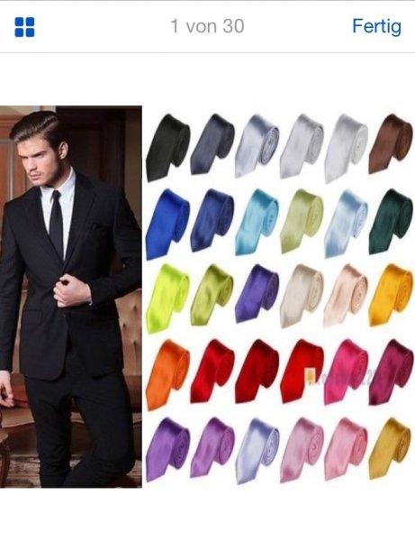 Verschiedene Farben  Krawatte Herren Hochzeit Konfirmation Slim Tie Retro Business Schlips schmal