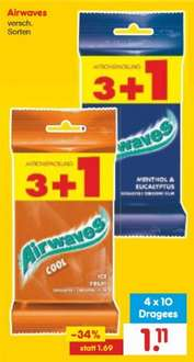 [Netto MD] Wrigley's Airwaves 3+1 / 0,28€ pro Packung