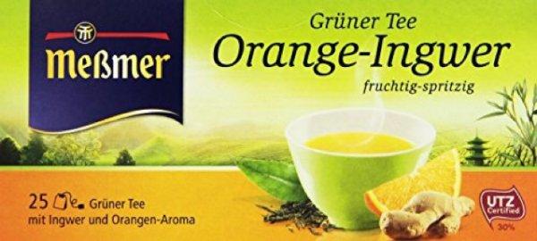 Meßmer Grüner Tee orange und Ingwer, 12er Pack (12 x 44 g) 5,46€