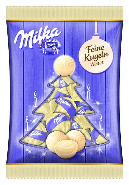 Amazon Prime : Milka Feine Kugeln weisse Schokolade, 11er Pack (11 x 90 g) - Nur 8,47 €