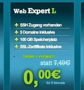 6 Monate kostenloses Webhosting [50% Ersparnis]