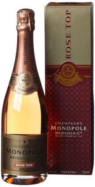 [AMAZON] Heidsieck & Co. Monopole Rosé Top Brut Champagner mit Geschenkverpackung (1 x 0.75 l) - 23,99