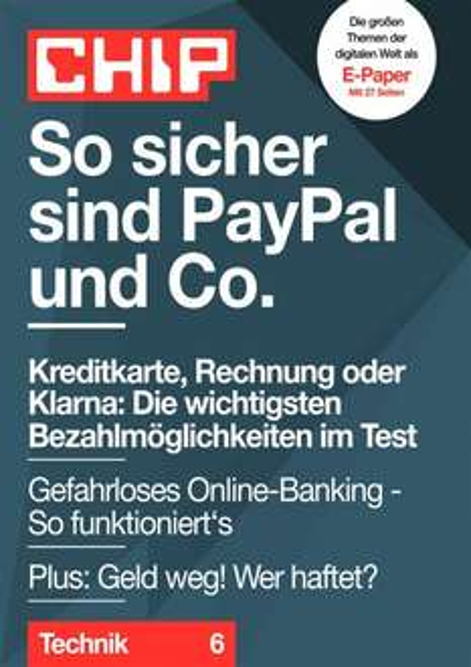 Chip Guide: So sicher sind PayPal und Co. (eBook/PDF umsonst)