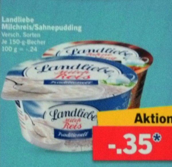 [Lidl + scondoo] KW06: 6x Landliebe Milchreis oder Sahnepudding / Grießpudding