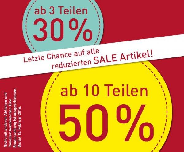 [offline, bundesweit] Modepark Röther: 50% auf alles Reduzierte beim Kauf von 10 Artikeln