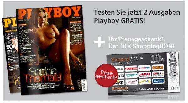 Magazin Playboy : 2 Ausgaben gratis  ( Kündigung notwendig)
