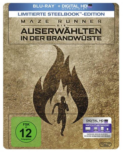 Maze Runner - Die Auserwählten in der Brandwüste (exklusives Müller Steelbook) (Blu-ray Disc)