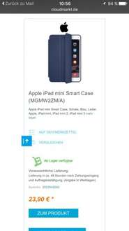 Apple iPad mini 1,2,3 Smart Case Midnight Blue knapp 29 € inkl Versand