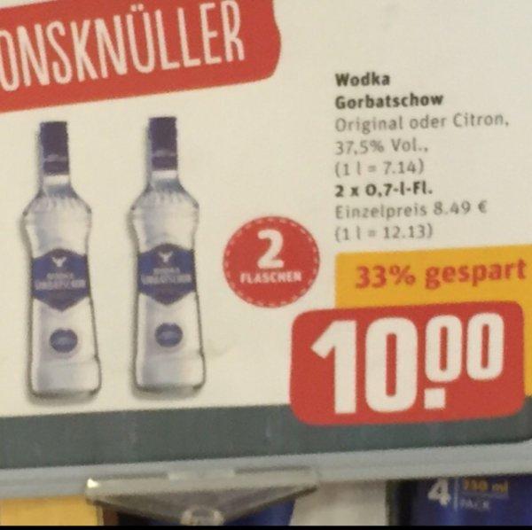 [REWE Aidenbachstr. München] 2 x 0,7l Wodka Gorbatschov für 10€
