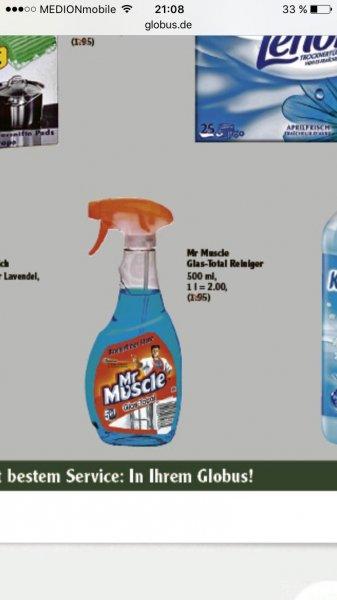 [Globus] Mr Muscle Glasreiniger pro Stück 0,66€, 6 für