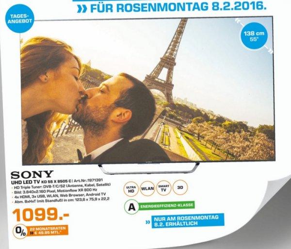 (Lokal) SONY KD55X8505 CBAEP für 1099€ @ Saturn Leverkusen (Tagesangebot 8.2)
